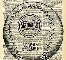 Baseball Dictionary Vintage Page Wall Art by designhappi