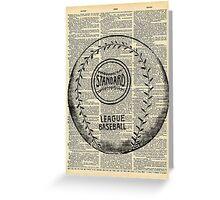 Baseball Dictionary Vintage Page Wall Art Greeting Card