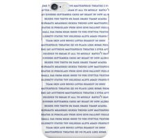 Marianas Trench - Track Lists iPhone Case/Skin