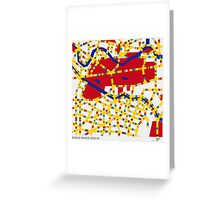BOOGIE WOOGIE BERLIN Greeting Card