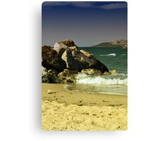 windy day in turgutreis Canvas Print