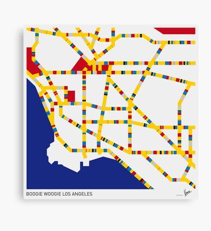 BOOGIE WOOGIE LOS ANGELES Canvas Print