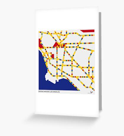 BOOGIE WOOGIE LOS ANGELES Greeting Card
