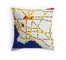 BOOGIE WOOGIE LOS ANGELES Throw Pillow