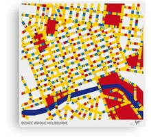 BOOGIE WOOGIE MELBOURNE Canvas Print