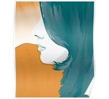 Woman Face Silhouette  Poster