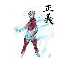 Samara from Mass Effect with Japanese Calligraphy Justice Photographic Print