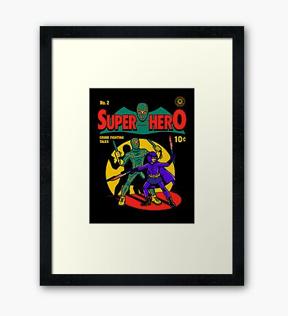 Superhero Comic Framed Print