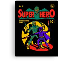 Superhero Comic Canvas Print