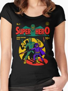 Superhero Comic Women's Fitted Scoop T-Shirt