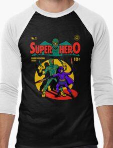 Superhero Comic Men's Baseball ¾ T-Shirt