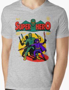 Superhero Comic Mens V-Neck T-Shirt