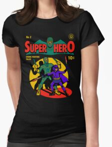 Superhero Comic Womens Fitted T-Shirt
