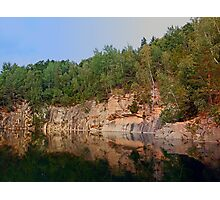 Granite rocks at the natural lake | waterscape photography Photographic Print