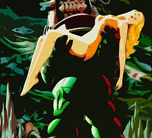 Forbidden Planet Retro Print by Colin Bradley