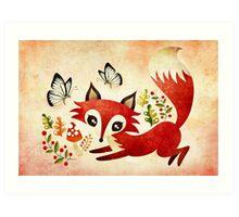 Playful Fox Art Print