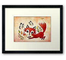 Playful Fox Framed Print