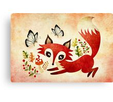 Playful Fox Canvas Print