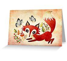 Playful Fox Greeting Card