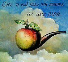 Ceci n'est pas une pomme ni une pipe by ganechJoe