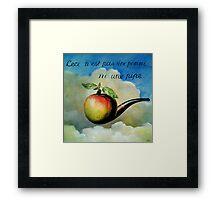 Ceci n'est pas une pomme ni une pipe Framed Print