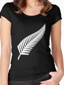 All Blacks Silver Fern Women's Fitted Scoop T-Shirt
