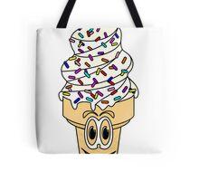 Sprinkles Ice Cream Cone Cartoon Tote Bag