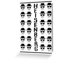 Heisenburg Multiple Faces Greeting Card