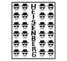 Heisenburg Multiple Faces Photographic Print