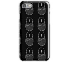 Bearded til the end (black and white) iPhone Case/Skin