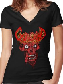Goregrind Women's Fitted V-Neck T-Shirt