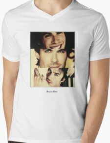 Vampire Addict Mens V-Neck T-Shirt