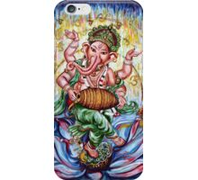 Ganesha Dancing and Playing Mridang iPhone Case/Skin