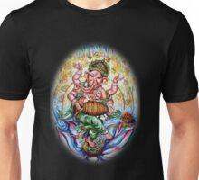 Ganesha Dancing and Playing Mridang Unisex T-Shirt