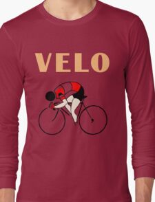 Retro art deco design cycling velo sprint Long Sleeve T-Shirt
