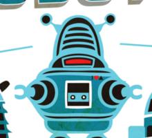 Robotic Love Triangle Sticker