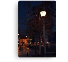 night in bodrum street Canvas Print