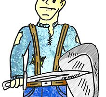 Cartoon warrior 1 by Rob Cox