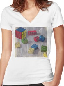 Lego my Ernő Women's Fitted V-Neck T-Shirt