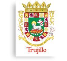 Trujillo Shield of Puerto Rico Canvas Print