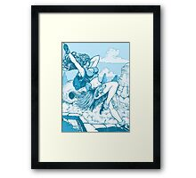 Pulp hero Framed Print