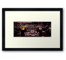 WWII Airplane Cockpit Framed Print
