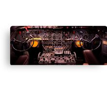 WWII Airplane Cockpit Canvas Print