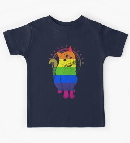 psychic kitty: rainbow Edition Kids Clothes