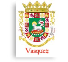Vazquez Shield of Puerto Rico Canvas Print
