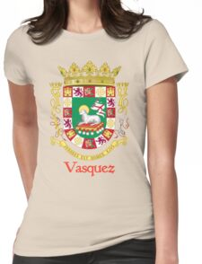Vazquez Shield of Puerto Rico Womens Fitted T-Shirt