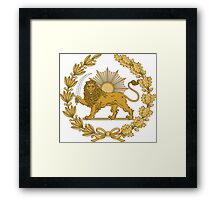 Lion & Sun Emblem of Persia (Iran) Framed Print