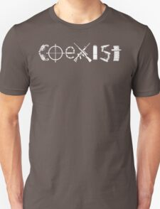 COEXIST - Guns Unisex T-Shirt