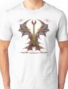 Ghost Gothic Bat Guitar Unisex T-Shirt