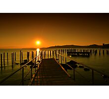 sunset in bodrum Photographic Print